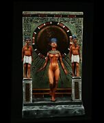 Egyptian Princess, Tell El-amarna Tin Toy Soldier 54 Mm. Metal