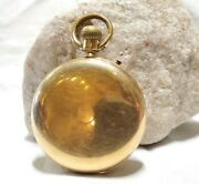 Antique 14k Yellow Gold Richard And Co. 24261 Straight Line 15j Pocket Watch