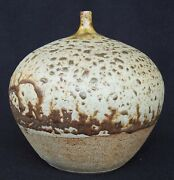 Don Sprague Studio Art Hand Thrown Pottery 6 Weed Pot Signed