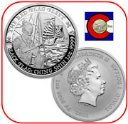 2021 Tuvalu Black Flag The Red Flag Fleet Ching Shih 1 Oz Silver Coin In Capsule
