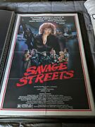 Savage Streets Authentic One Sheet Movie Poster 27x41
