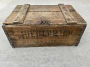 Vintage Muehlebach Brewery Wood Crate For Beer Bottles Kansas City Prohibition
