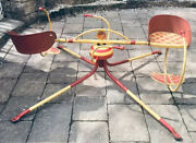 Vtg Mobo Child's Merry-go-round Made In Uk 1950's-60's Beautiful Orig Condition