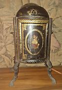 Rare Early 1800s Victorian Toleware Iron/tin Arch Fireplace Food Warmer Cabinet