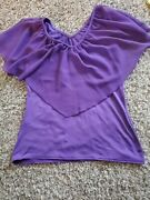 2 Blouses. Purple And Yellow. Size Large. Women.