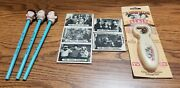 3 Stooges Bundled Items 1982 Picket Mirrors 1991 Pencil Toppers And Talking Beer