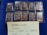 🌟10 Vintage Credit Suisse 1 Oz .999 Silver Bars Sequential Serial S W/ Coa