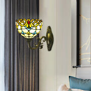 Style Wall Sconce Stained Glass Shade Wall Lamp Lighting Decor Fixture