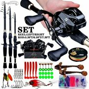 1.8-2.4m Telescopic Casting Fishing Combo Portable Ultralight Rod And 7.21 Gear