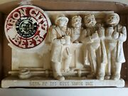 1951 Vintage Iron City Beer Chalkware Advertisement Pittsburg Brewing Co.