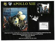 Apollo 13 Genuine Strapping Swatch From The Lunar Module Flown Around The Moon