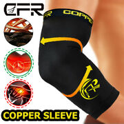 Copper Elbow Brace Support Compression Sleeve Arthritis Tendonitis Joint Pain
