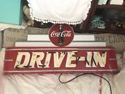 Large Cocal Cola Neon Drive In Art Deco Sign