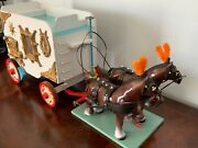 Vintage Circus Wagon And Horse Ensemble... Custom Made, Part Of Collection....