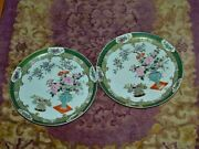 Rare 18th Century Pair Of Antique Chinese Plates 9 Signed