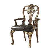 George Iii Carved Leather Upholstered Armchair