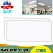 2-20pcs Led Ceiling Panel2x4ft75wrecessed/drop Ceiling Install 5000k Daylight