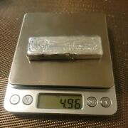 Hand Poured Silver Bar 4.96 Oz Troy. 999 Fine Mooney Metals