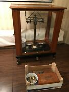 Vintage Pharmaceutical/gold Assay Scale Large Complete With All Parts And Weight
