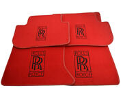 Floor Mats For Rolls Royce Ghost Tailored Red Carpets With Rr Emblem Lhd New