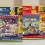 My First Leap Pad Leap Frog Lot Of 2 Books And Cartridges New In Package Nip