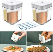 Shangxing 2 Pack 4 In 1 Plastic Salt And Pepper Shaker- 8 Grids Empty Spice Disp