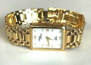 14k Yellow Solid Gold Ladies Womenandrsquos Watch By Micheal Anthony Bracelet