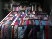 New Homemade Bookcase Quilt W/bees Tokens Queen Size