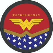 Jeep Spare Tire Cover- Wonder Woman 2 For Jeep Rv Or Trailers Etc.