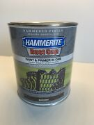 Hammerite Rust Cap Hammered Finish Paint And Primer In One Brown New