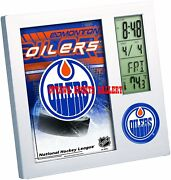 Wincraft Edmonton Oilers Licensed Desk Clock Andbull New In Package Cl2