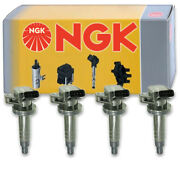 4 Pc Ngk Ignition Coils For 1999-2008 Toyota Corolla 1.8l L4 Spark Plug Wire Hv