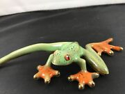 Golden Pound Collection By Green Tree Beautiful Frog Figurine 6 1/2andrdquo L X 2andrdquo W
