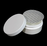 Plastic Cosmetic Containers Low Profile Wide Mouth Jars Lid And Seal 2 Oz 36 9333