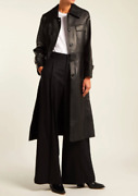 Nili Lotan - Sold-out 2547 Black Leather Slim Trench Coat Killer Cut M