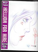 Billy Tucci Hellion For Hire Sketch Book Vol. 1 87/100 Shi Signed Sketch Color