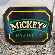 Vintage 70's/80's Mickey's Malt Liquor Beer Lighted Electric Sign Rare