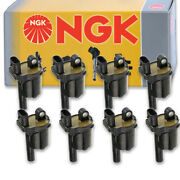 8 Pc Ngk Ignition Coils For 2015-2019 Gmc Yukon 5.3l 6.2l V8 Spark Plug Wire Sq