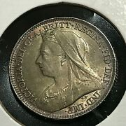 1897 Great Britain Silver 6 Pence High Grade Coin