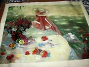Hua Chen Hand Embellished Giclee Signed Unframed 39 1/2 X 30 1/2 Beautiful