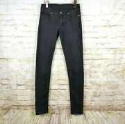 Cheap Monday Womens Faded Black Skinny Jeans Grunge Size 28