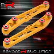 For 93-97 Del Sol Jdm Sport Gold Lower Control Arm Cross Design + Red Bushings