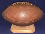 Antique 1930's Marathon Brand Cornell Coach Carl Snavely Model Leather Football