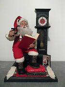 Holiday Creations 1995 Animated Santa Story Telling Cassette / Clock Figure