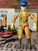 Gi Joe 1991 Red Star Uncracked Elbows Oktober Guard 100 Cmp And File Card