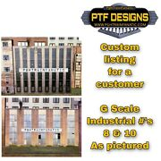 Custom Listing- G Scale Building Flats Industrial 8 And 10