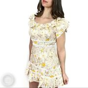 Ryse The Label Veronica Floral Lace Ruffle Dress