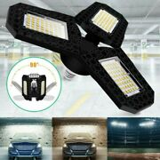 E27 60/80w Led Garage Light-bulbs Deformable Ceiling Fixture Carports Lamp Parts