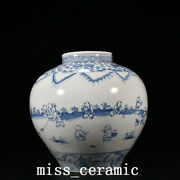 12.6 China Old Porcelain Ming Dynasty Chenghua Blue White Infant Play Jar Pot