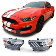 Bi Xenon Headlights For Ford Mustang 6 Coupe And Cabrio 2014-08/2017 Model